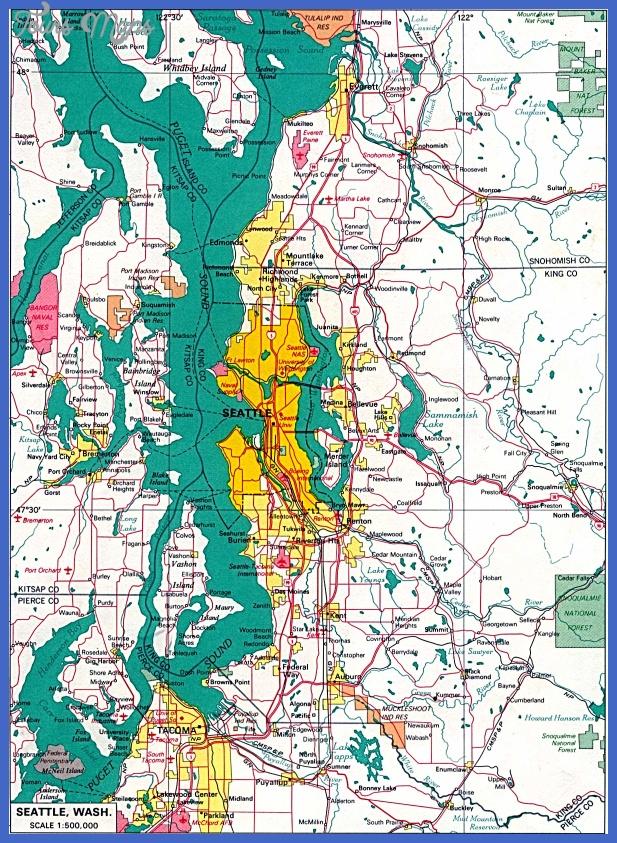 seattle map  4 Seattle Map