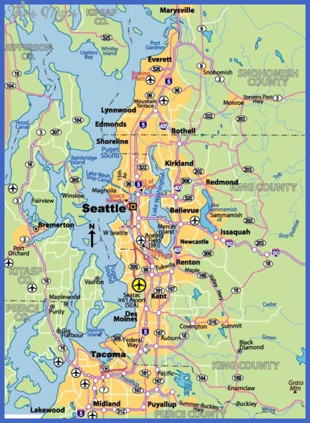 seattle washington map 14 Seattle Map