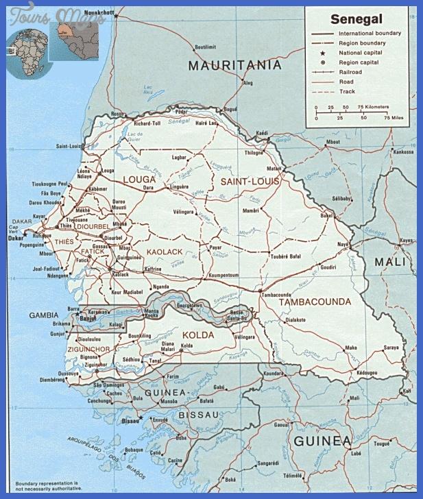 senegal map tourist attractions 3 Senegal Map Tourist Attractions