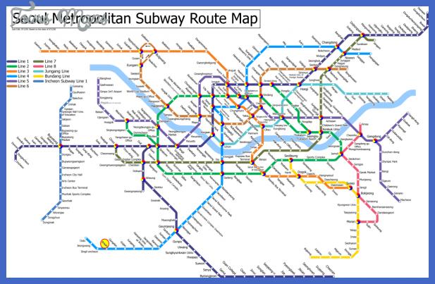 Korea South Subway Map Toursmaps Com