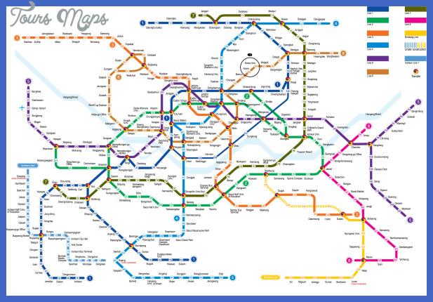 seoul subway map 2 Fukuoka Subway Map