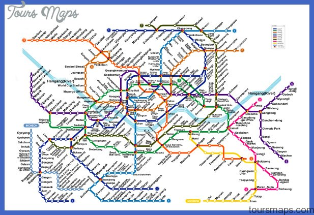 Seoul Subway Map 0jpg ToursMapscom