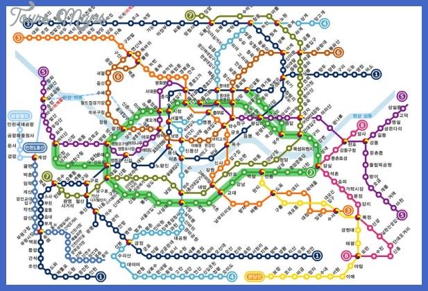 seoul subway Seoul Subway Map