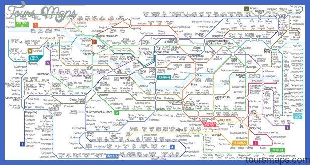 seoulsublet subwaymap Seoul Map Tourist Attractions