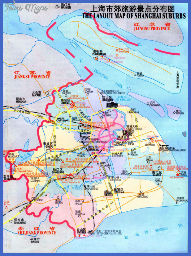 shanghai tourist map2 Tianjin Map Tourist Attractions