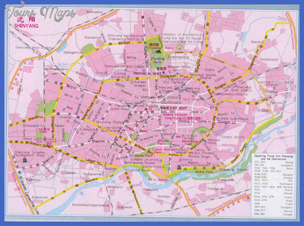 shenyang map  1 Shenyang Map