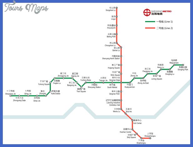 shenyang subway map  2 Shenyang Subway Map