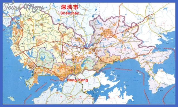 shenzhen district map mediumthumb Shenzhen Map