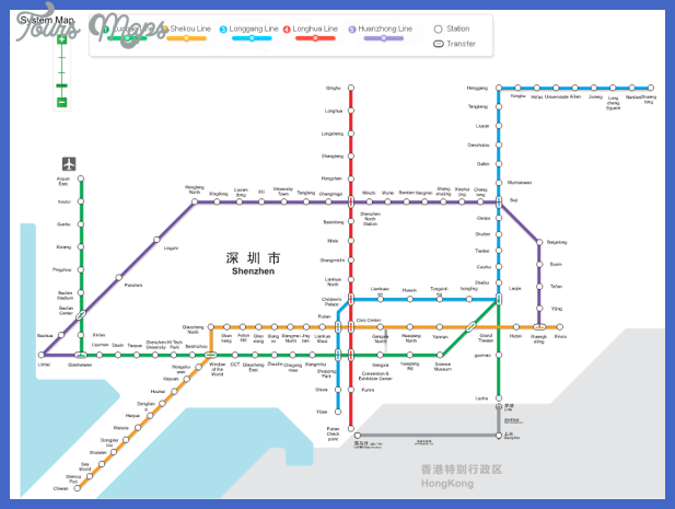 shenzhen subway map 3 Shenzhen Subway Map