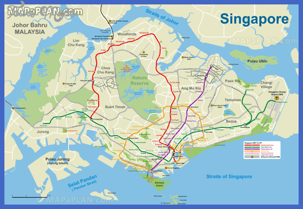 Singapore Metro Map Toursmaps Com