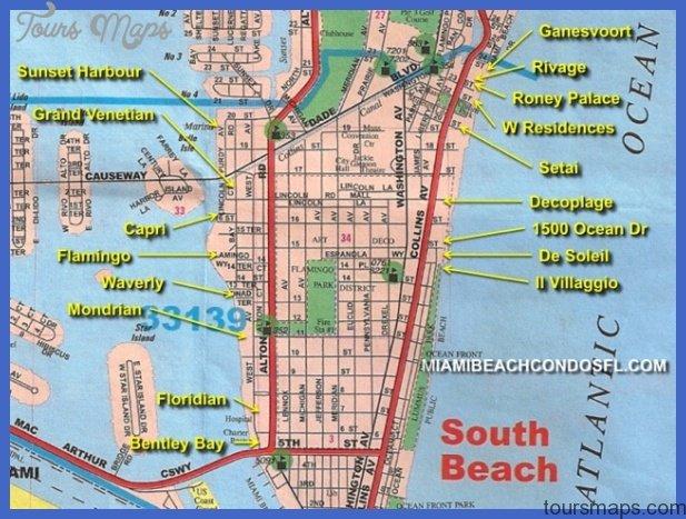 sobe map Miami Map Tourist Attractions