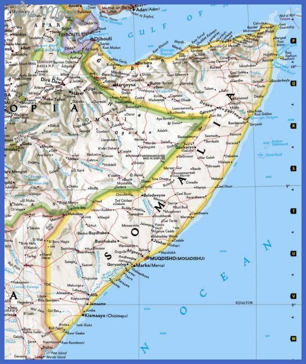 somalia map tourist attractions 1 Somalia Map Tourist Attractions