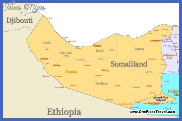somalia map tourist attractions 15 Somalia Map Tourist Attractions