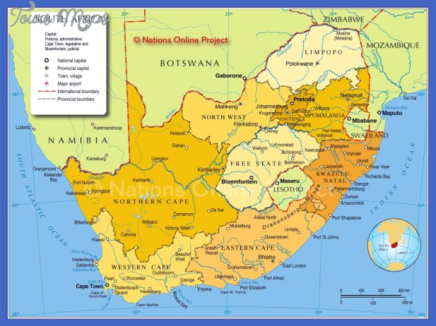 south africa map 1 South Africa Map