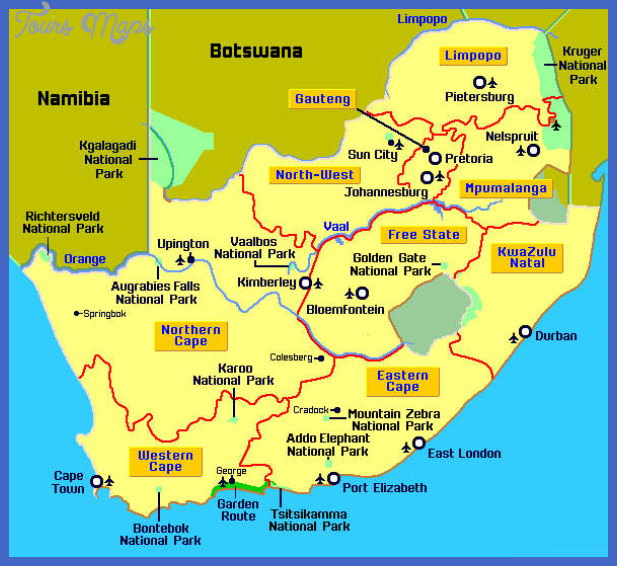 south africa map picture South Africa Map