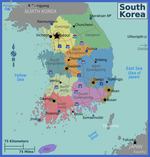south korea map1 Seoul Map
