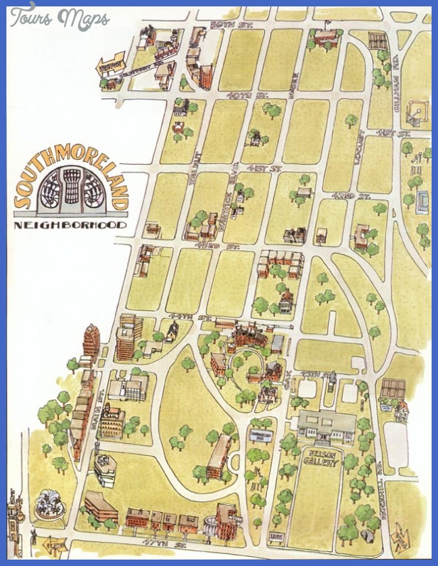 southmoreland kansas city tourist map Kansas City Map Tourist Attractions