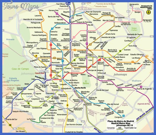 spain metro map  11 Spain Metro Map