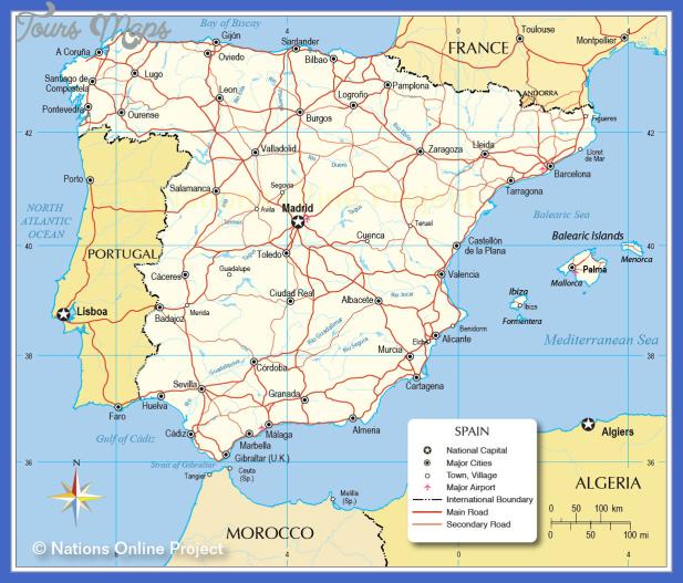 spain map 1 Spain Subway Map