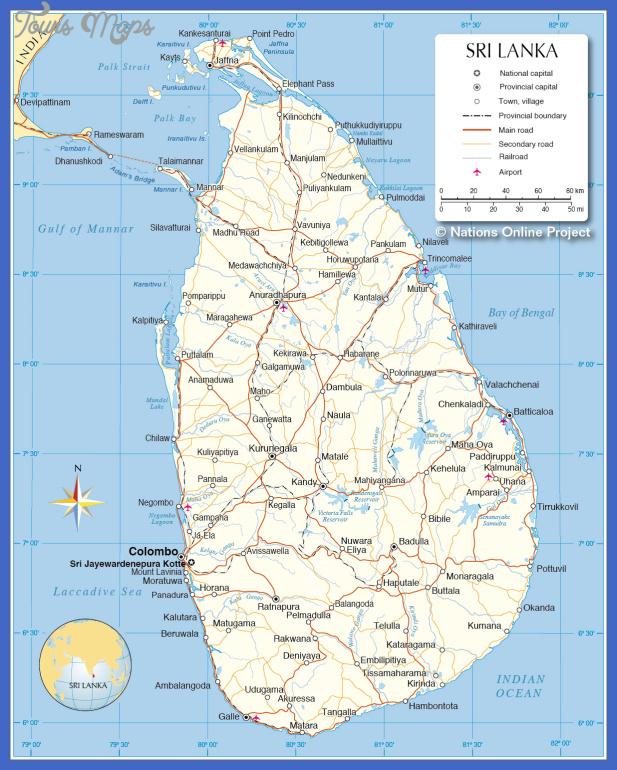 sri lanka map  1 Sri Lanka Map