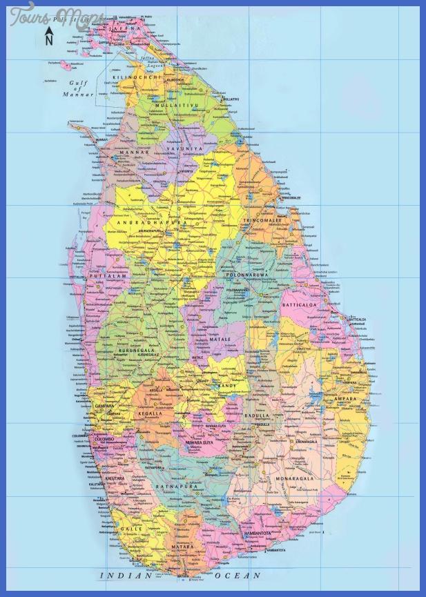sri lanka political map Sri Lanka Map