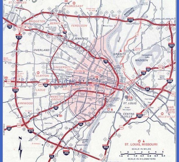 St Louis Map Tourist Attractions ToursMapsCom – St Louis Tourist Map