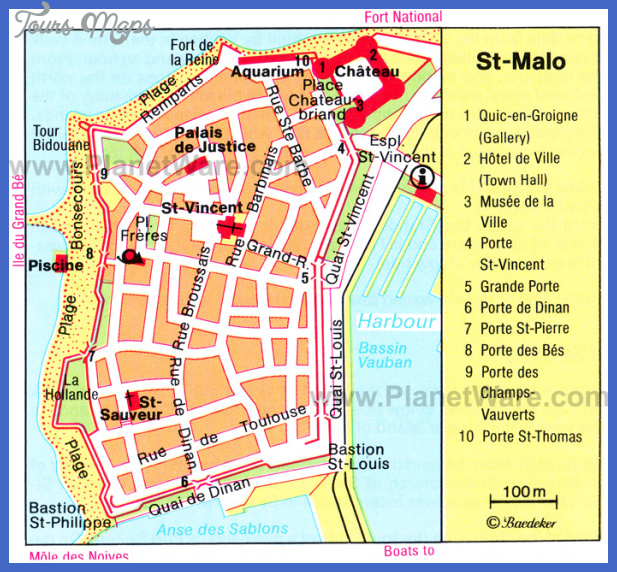 st malo map St. Paul Map Tourist Attractions