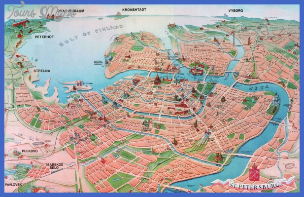 st petersburg tourist attractions map Dubai Map Tourist Attractions