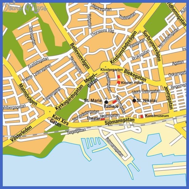 stadtplan ystad 7986 Sweden Subway Map
