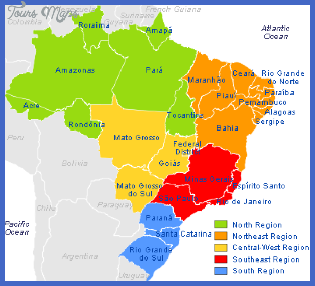 states of brazil map Brazil Map Tourist Attractions