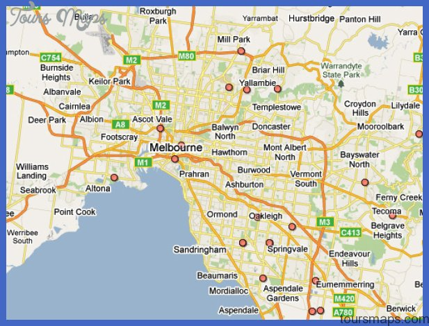 stock melbourne map Melbourne Map