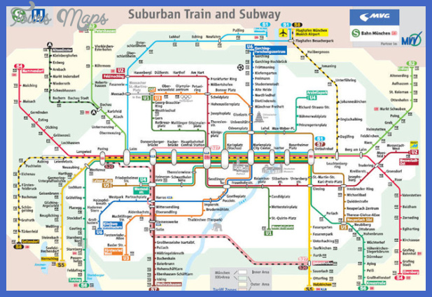 Munich Subway Map.Munich Subway Map Toursmaps Com