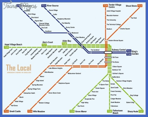 sweden subway map  1 Sweden Subway Map