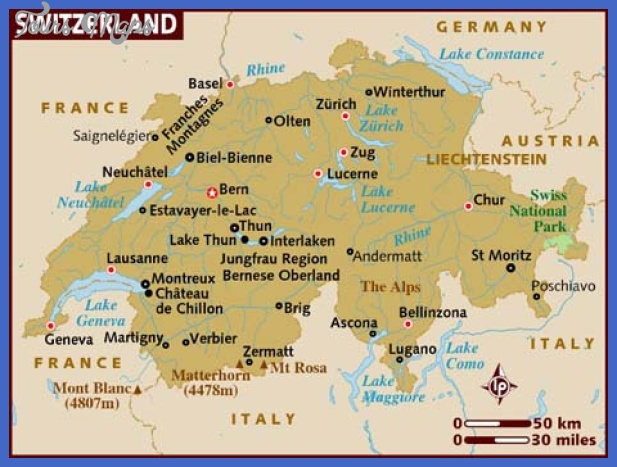 switzerland map  17 Switzerland Map