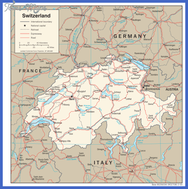 switzerland trans 2000 Switzerland Map