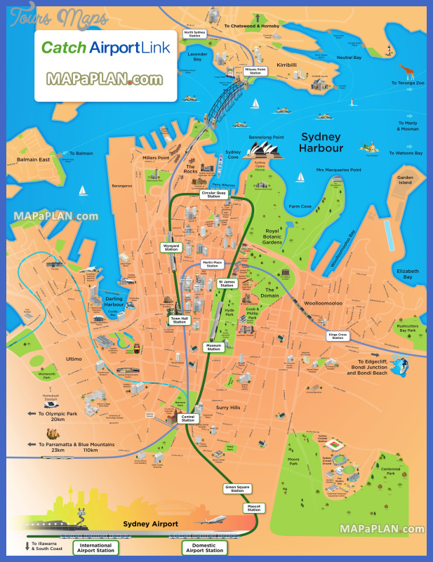 sydney top tourist attractions map 03 airport link fun things to do family kids powerhouse museum luna park aquarium imax poster high resolution Australia Map Tourist Attractions