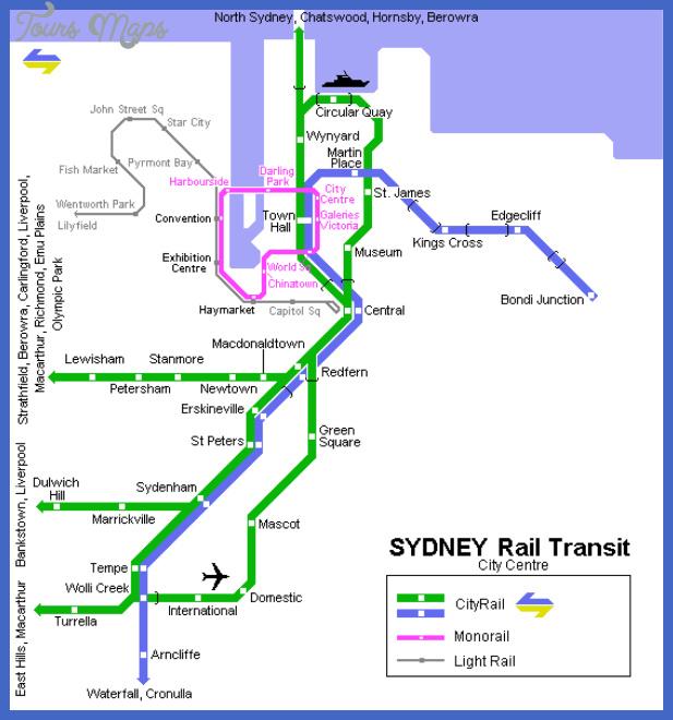 sydney metro map Australia Metro Map