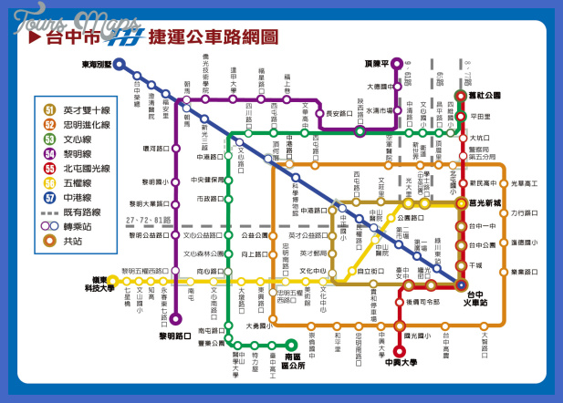 Taichung City Bus Map See map details From www.taiwanfun.com