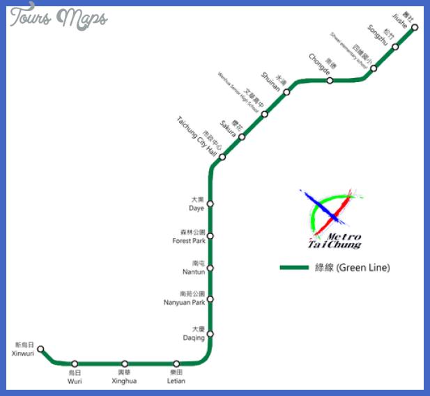 taichung subway map 0 Taichung Subway Map