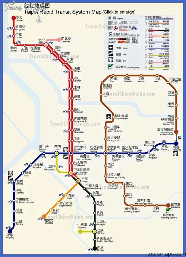 Taiwan Railway Map & Taipei MRT Map | Travel Transmissions