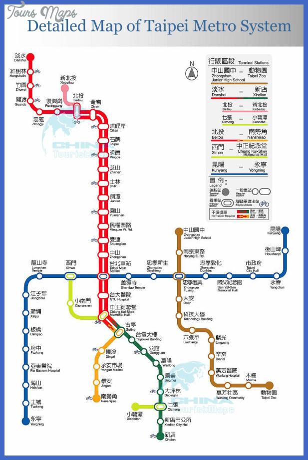 taipei subway map 6 Taipei Subway Map