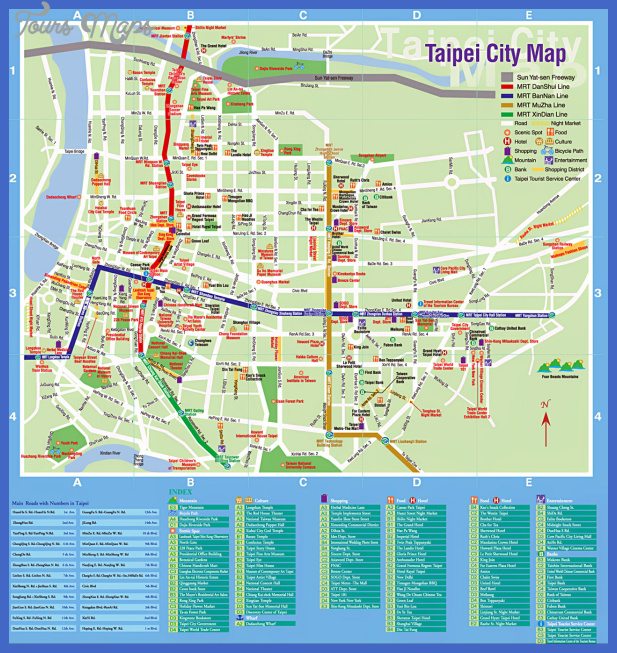 taipei tourist map 3 Taichung Map Tourist Attractions