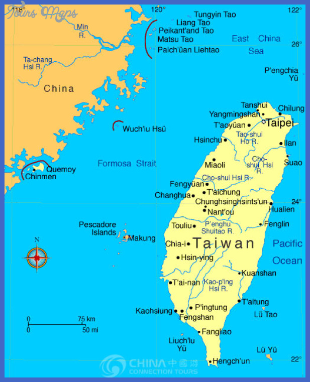 taiwan map tourist attractions  1 Taiwan Map Tourist Attractions