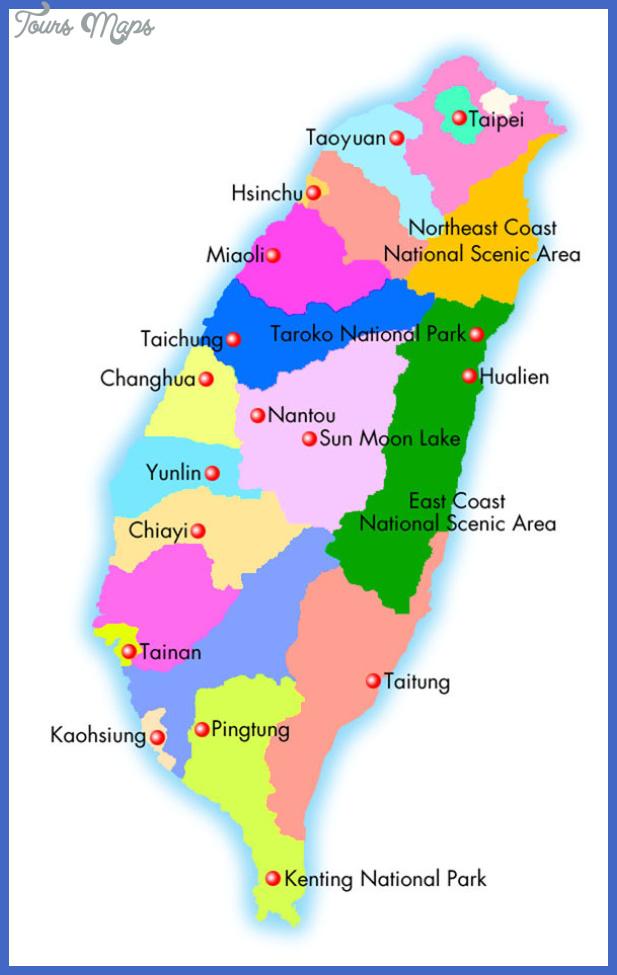taiwan map 0 Taiwan Map