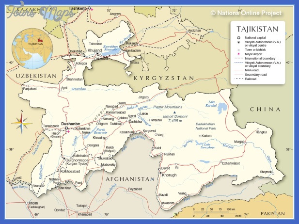 tajikistan map 4 Tajikistan Map