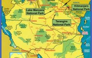 Arusha National Park, Tanzania: The Tourist Map - 0620415029 ...