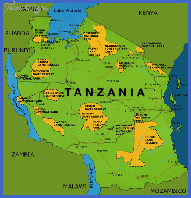 tanzania map Tanzania Map