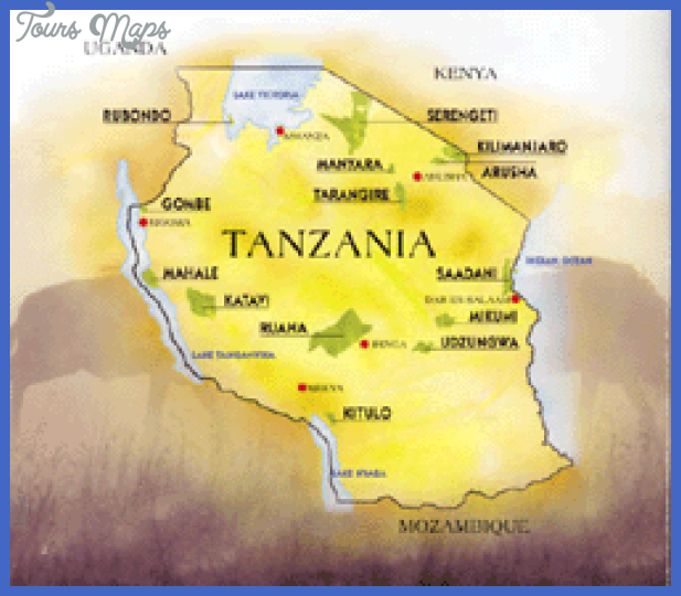 tanzania map Tanzania Map Tourist Attractions