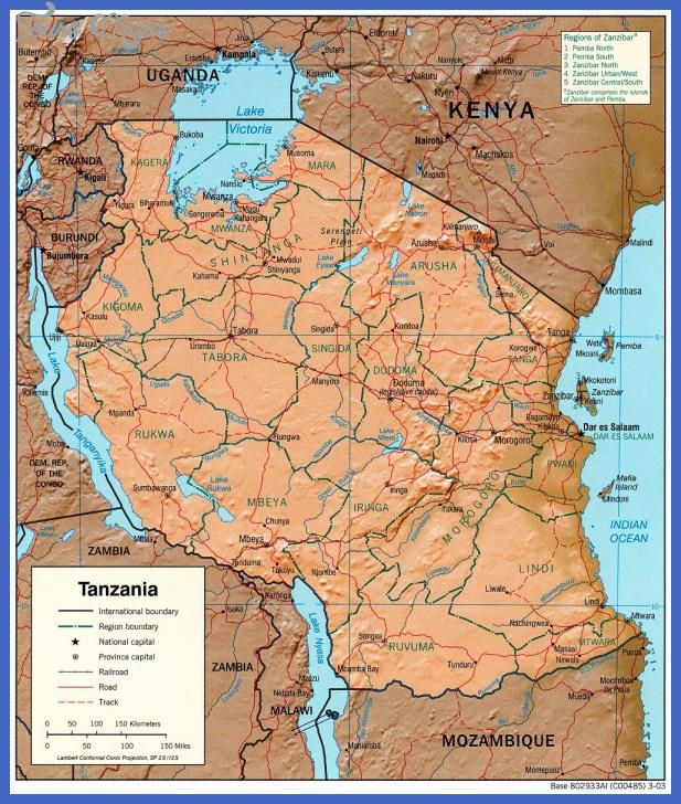 tanzania map 3 Tanzania Map