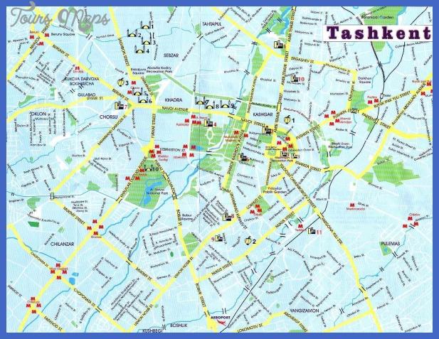 tashkent uzbekistan tourist map Uzbekistan Subway Map